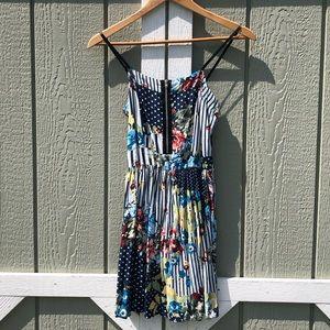 LF floral polka dot dress with adjustable straps